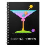 Rainbow Martinis Cocktail Recipe Notebook