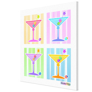 Rainbow Martinis on Gallery Wrapped Canvas