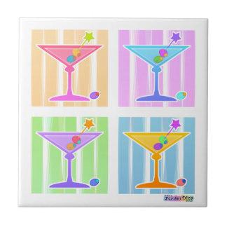 Rainbow Martinis Tile