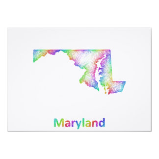 Rainbow Maryland map Card