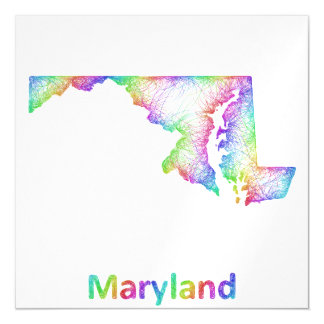 Rainbow Maryland map Magnetic Card