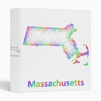 Rainbow Massachusetts map 3 Ring Binder