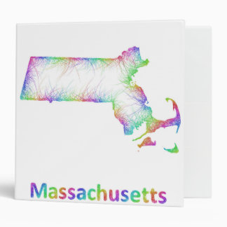 Rainbow Massachusetts map Binder