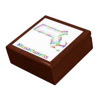 Rainbow Massachusetts map Jewelry Box