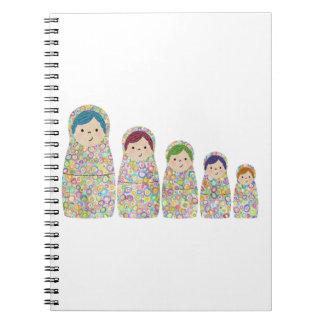 Rainbow Matryoshka Nesting Dolls Notebook