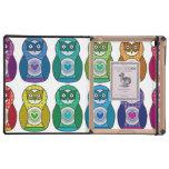 Rainbow Matryoshka Owls Case For iPad