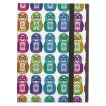 Rainbow Matryoshka Owls iPad Air Cover
