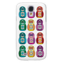 Rainbow Matryoshka Owls Samsung Galaxy S4 Cover