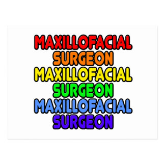 Rainbow Maxillofacial Surgeon Postcard