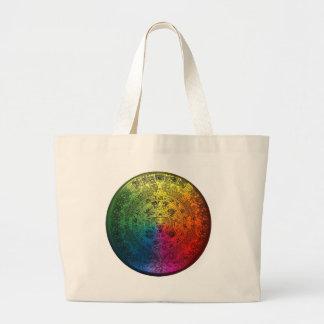 Rainbow Mayan Calendar Canvas Totebag Canvas Bag