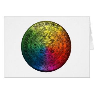Rainbow Mayan Calendar Notecard