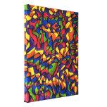 Rainbow Maze Canvas Prints