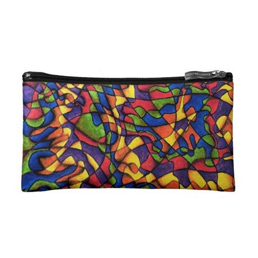 Rainbow Maze Makeup Bag