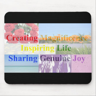 Rainbow Meaning of Life Words with Pictures Mouse Pad