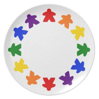Rainbow Meeple Plate
