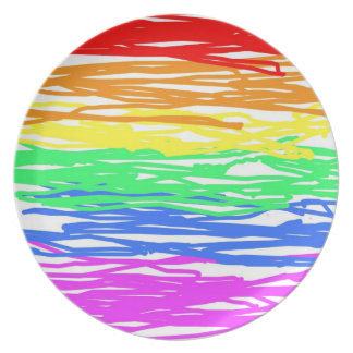 Rainbow Melamine Plate