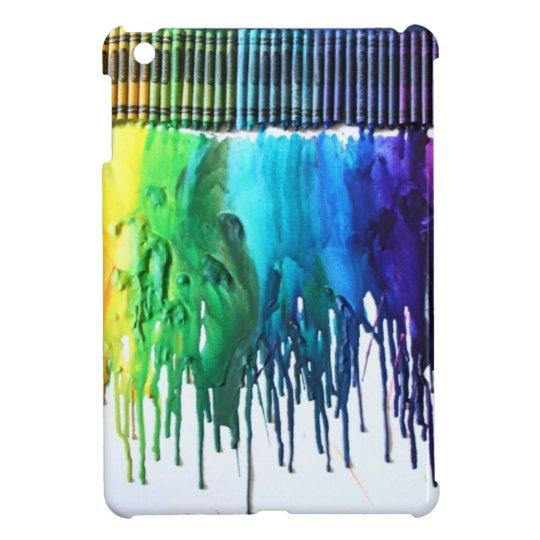 Rainbow melted crayon art IPad MINI case