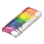 Rainbow melted crayon art iPhone 5 case