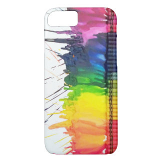 Rainbow melted crayon art iPhone 7 case
