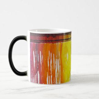 Rainbow melted crayon art MORPHING mug