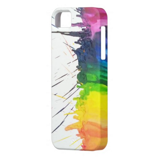 Rainbow melted crayons art paint splatter iPhone 5 iPhone 5 Covers