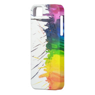 Rainbow melted crayons art paint splatter iPhone 5 iPhone SE/5/5s Case
