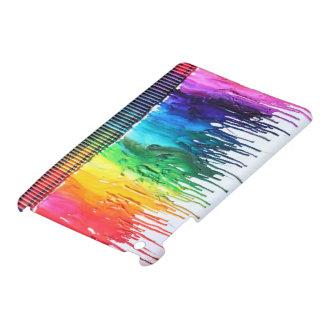 Rainbow melting crayon art IPad MINI cover case
