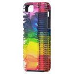 Rainbow melting crayons art iPhone 5 Vibe case iPhone 5 Cases