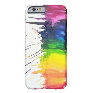 Rainbow melting crayons art iPhone 6 case