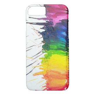 Rainbow melting crayons art iPhone 7 case