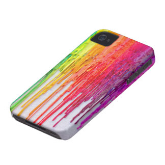 rainbow melting wax iphone iPhone 4 Case-Mate case