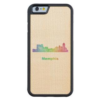 Rainbow Memphis skyline Carved® Maple iPhone 6 Bumper Case
