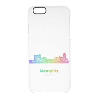 Rainbow Memphis skyline Clear iPhone 6/6S Case