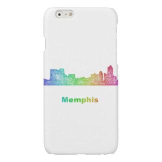 Rainbow Memphis skyline Glossy iPhone 6 Case