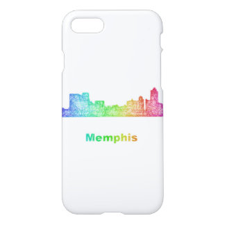 Rainbow Memphis skyline iPhone 7 Case