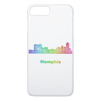 Rainbow Memphis skyline iPhone 7 Plus Case