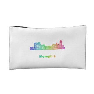 Rainbow Memphis skyline Makeup Bag
