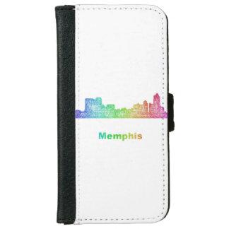 Rainbow Memphis skyline Wallet Phone Case For iPhone 6/6s