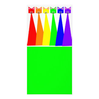 Rainbow Meows Designed Book Mark Card