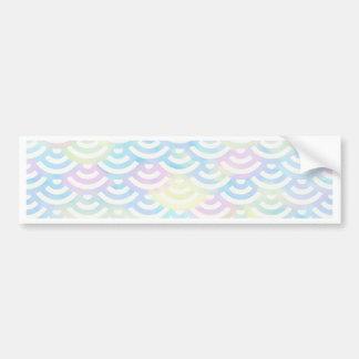 Rainbow Mermaid Pastel Bumper Sticker