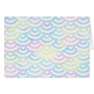 Beach Themed Rainbow Mermaid Pastel Card
