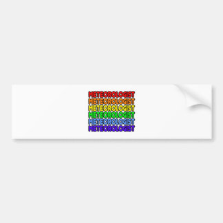 Rainbow Meteorologist Bumper Sticker
