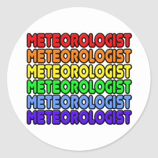 Rainbow Meteorologist Classic Round Sticker