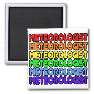 Rainbow Meteorologist Fridge Magnet