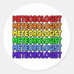 Rainbow Meteorologist Round Sticker