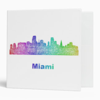 Rainbow Miami skyline Binder