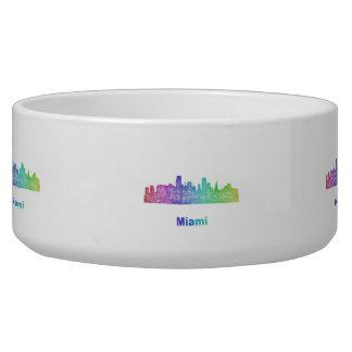 Rainbow Miami skyline Bowl