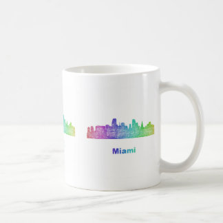 Rainbow Miami skyline Coffee Mug