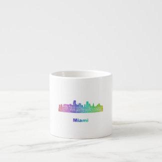 Rainbow Miami skyline Espresso Cup