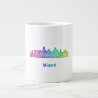 Rainbow Miami skyline Giant Coffee Mug